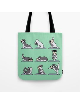 Miniature Schnauzer Yoga Tote Bag by
