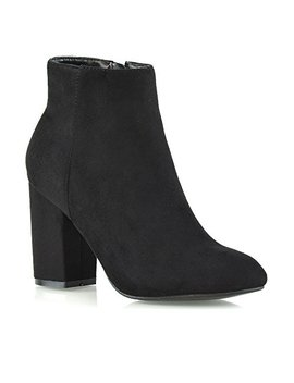 Essex Glam Womens Casual Block Mid High Heel Smart Ankle Boots by Essex Glam