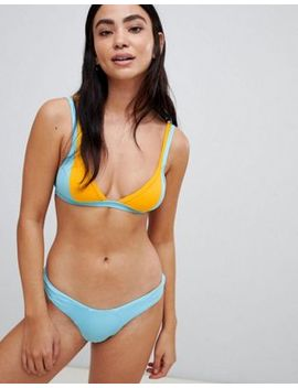 Free Society Mix & Match Colour Block Bikini by Free Society