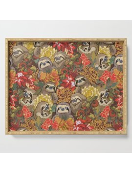Because Sloths Autumn Serving Tray by