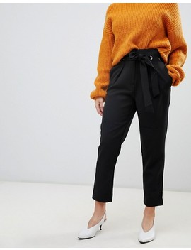 Y.A.S Petite Straight Leg Pant With Belt Detail by Y.A.S. Petite
