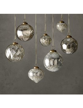Handblown Mercury Glass Ornament Collection by Restoration Hardware