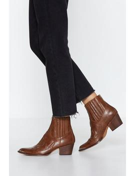 Go West Cowboy Boot by Nasty Gal