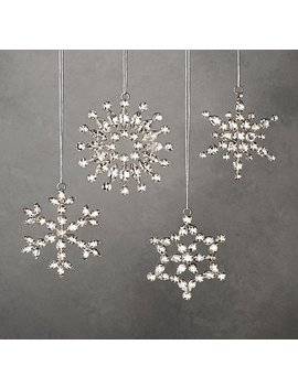 Victorian Glass Snowflake Mini Ornaments (Set Of 4) by Restoration Hardware
