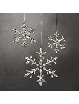 Victorian Glass Snowflake Ornament   Flower by Restoration Hardware