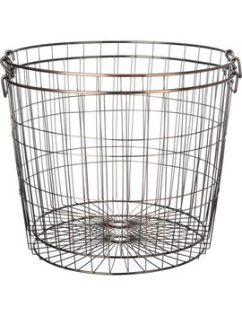 Mainstays Large Round Wire Copper Basket, 2 Pack by Mainstays
