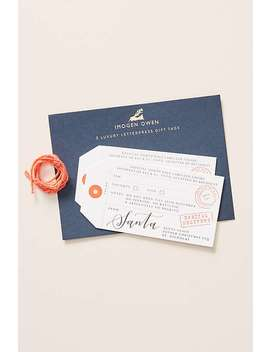 Luxe Santa Gift Tags, Set Of 2 by Anthropologie
