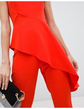 Asos Design Slim Red Trousers Co Ord by Asos Design