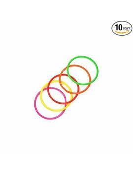 Cosmos 10 Pcs Medium Size Plastic Toss Rings For Speed And Agility Practice Games by Cosmos