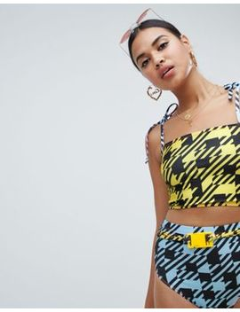 Jade Clark X Tara Khorzad Bikini Top In Check by Bikini Top