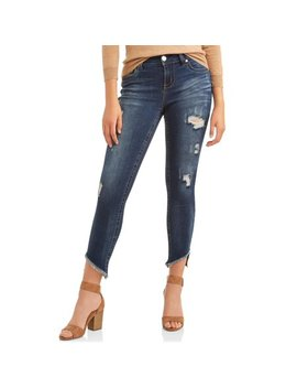 "Women's 28"" Skinny Hi Low Sharkbite Jean by Seven7"