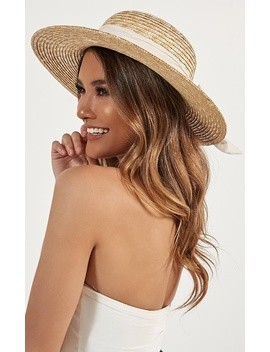 Sail Away Hat In Cream And Natural by Showpo Fashion