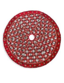 Yuletide Plaid Tree Skirt by Mac Kenzie Childs