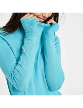 Blue Frill High Neck Long Sleeve Turtleneck by River Island