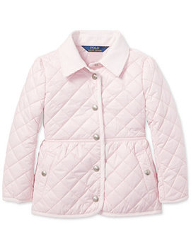 Toddler Girls Quilted Barn Jacket by Polo Ralph Lauren