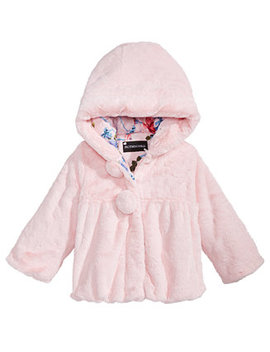 S. Rothschild Little Girls Hooded Teddy Plush Faux Fur Jacket by S Rothschild & Co