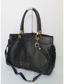 New Marc Jacobs Too Hot To Handle Black Leather Satchel Shoulder Handbag by Marc Jacobs