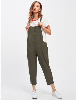 Pocket Side Overall Pants by Romwe