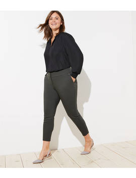 Loft Plus Skinny Button Pocket Pants by Loft