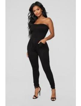Elena Tube Jumpsuit   Black by Fashion Nova