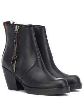 Leather Ankle Boots by Acne Studios