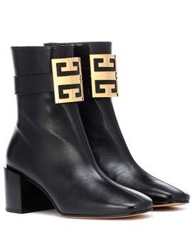 4 G Leather Ankle Boots by Givenchy