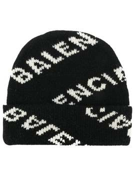 Balenciaga All Over Beanie Hathome Women Balenciaga Accessories Hats by Balenciaga