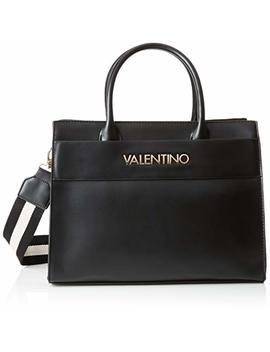 Valentino By Mario Valentino Blast Black Logo Tote Bag by Valentino By Mario Valentino