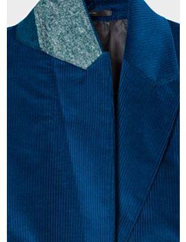 Women's Slim Fit Blue Corduroy Stretch Cotton Blazer by Paul Smith