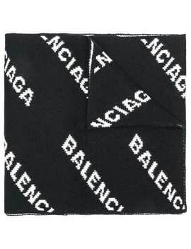 Balenciagaall Over Logo Scarfhome Women Balenciaga Accessories Scarves by Balenciaga