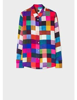 Women's 'colour Block Check' Shirt by Paul Smith