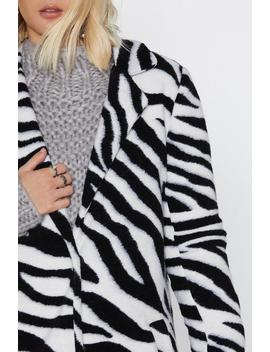 Just Like Magic Zebra Coat by Nasty Gal