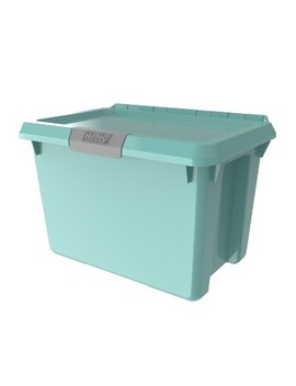 20qt Hinged Lind Tote Dusty Jade   Hefty by Hefty