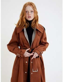 Single Breasted Trench Coat Brick by Marron Edition