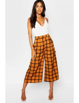 Check Culotte by Boohoo