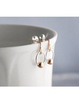 Mixed Metal Earrings,Mixed Metal Hoops,Small Hoops,Dainty Earring,Small Stud Earrings,Gold And Silver Earrings,Post Earrings,Gold Earrings by Etsy