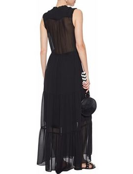 Ami Pintucked Crepe De Chine Maxi Dress by Rebecca Minkoff