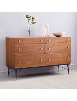 Paulson Mid Century 6 Drawer Dresser by West Elm