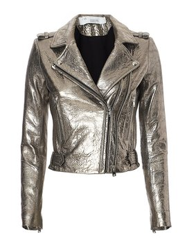 Dylan Metallic Leather Jacket by Iro