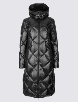 Padded Down & Feather Coat With Stormwear™ by Marks & Spencer