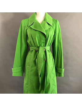Michael Michael Kors Lime Green Trench Coat Preowned/Used by Michael Michael Kors