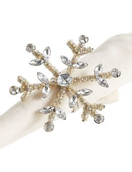 Beaded Silver Snowflake Napkin Ring by Pier1 Imports