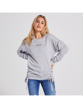 Adam Levine Womens Embroidered Sweatshirt by Kmart
