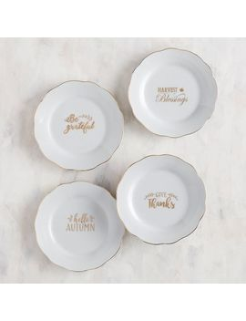 Give Thanks Appetizer Plate Set by Gracious Gatherings Collection