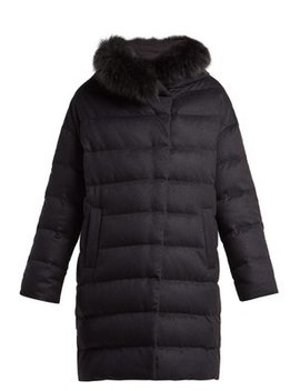 Hooded Quilted Down Silk And Cashmere Blend Coat by Herno