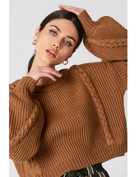 Short Cable Knitted Sweater by Na Kd