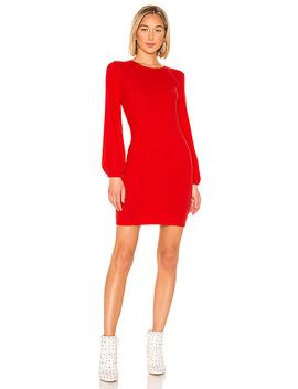 Rib Volume Sleeve Mini Dress by Enza Costa
