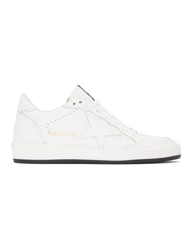 Baskets Blanches Ball Star by Golden Goose