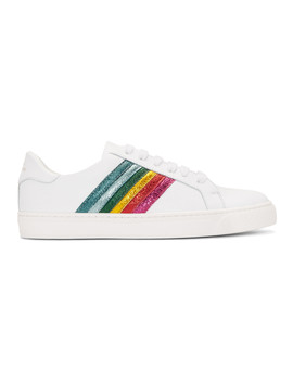Baskets Blanches Rainbow Tennis by Anya Hindmarch