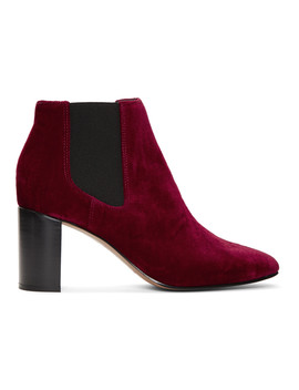Bottes En Velours Rouges Aslen by Rag & Bone